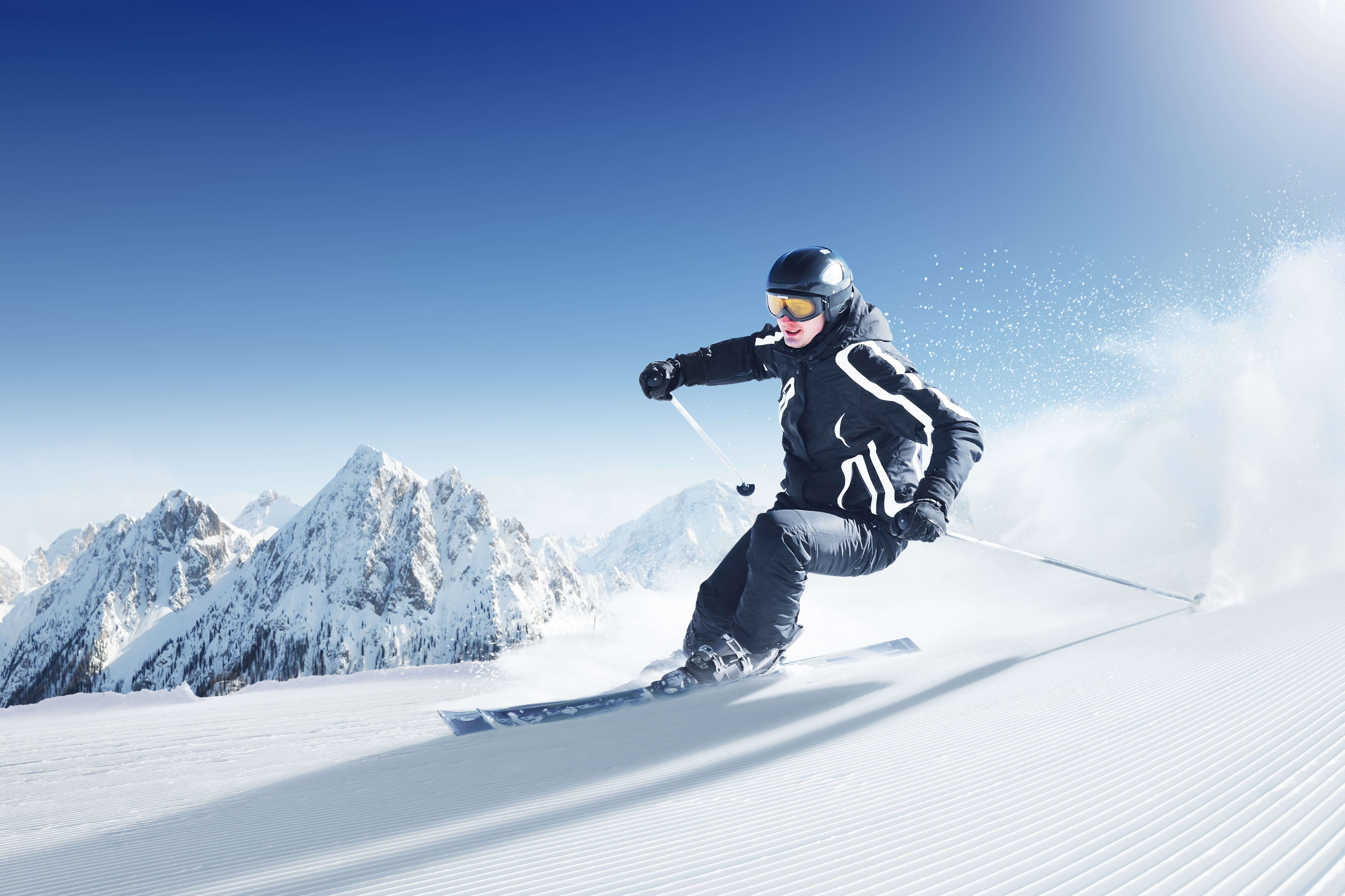 Mountains, snow, Skiing, wallpapers , Pc backgrounds, free photos
