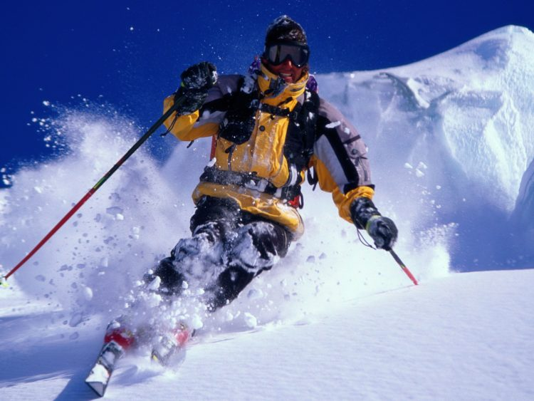 snow, skiing, man, wallpapers , Pc backgrounds, free photos
