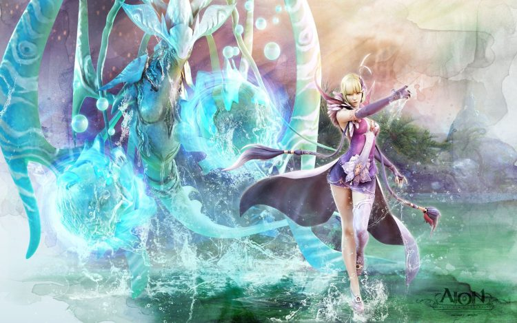 girl, mage, water, being, magic, wallpapers , Pc backgrounds, free photos