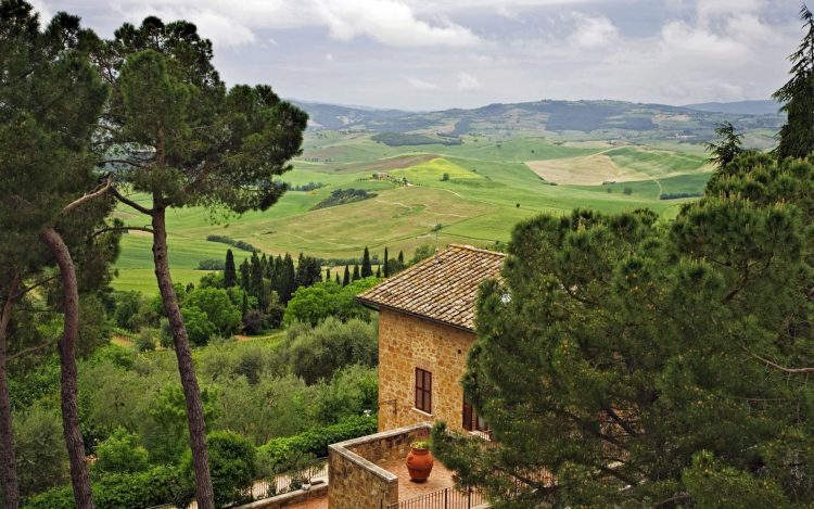 Italy, home, sky, Trees, hills, wallpapers , Pc backgrounds, free photos