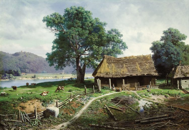 Klodt, Peasant, homestead, wallpapers , Pc backgrounds, free photos