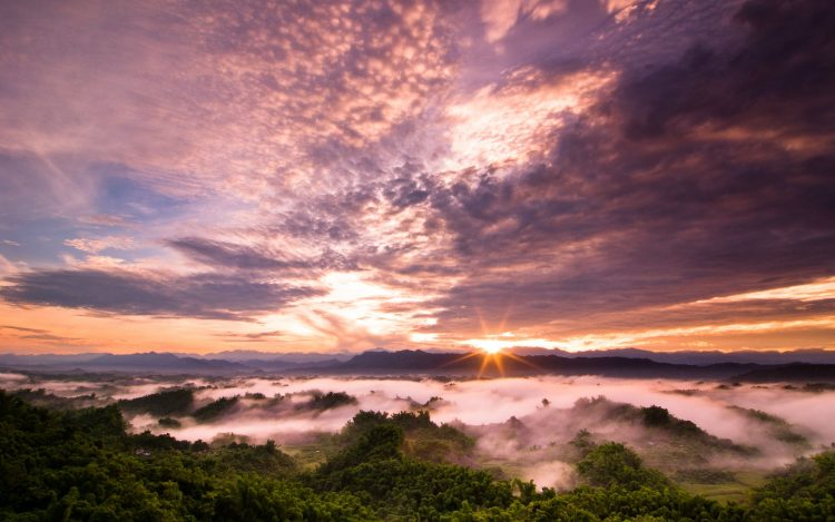 Taiwan, sunset, clouds, wallpapers , Pc backgrounds, free photos