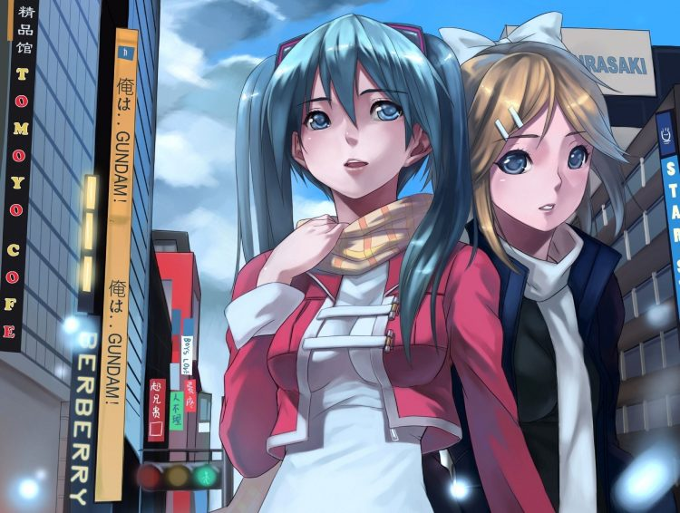 anime, Girls, city, headphones, wallpapers , Pc backgrounds, free photos
