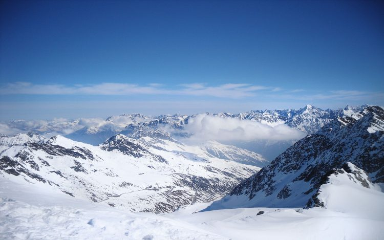 clouds, snow, Mountains, wallpapers , Pc backgrounds, free photos