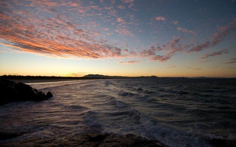 evening, sunset, summer, Sea, wave, stones, wallpapers , Pc backgrounds, free photos