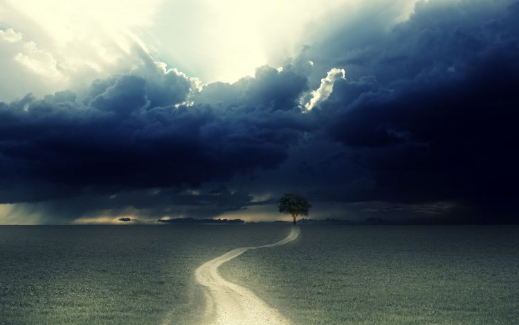 road, clouds, tree, wallpapers , Pc backgrounds, free photos