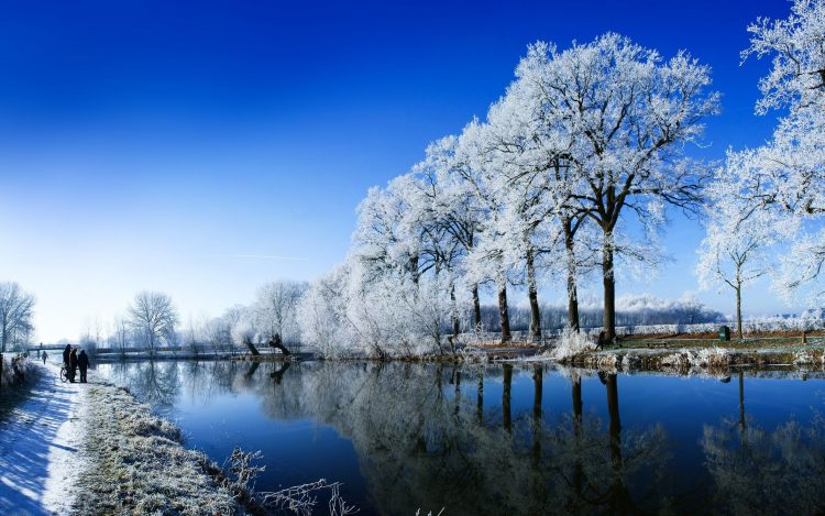 winter, snow, People, river, nature, wallpapers , Pc backgrounds, free photos