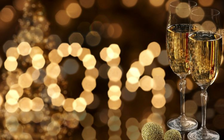 happy, new, year, 2014, champagne, glass, wallpapers , Pc backgrounds, free photos